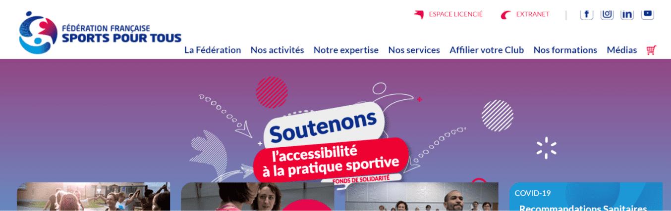 Sports pour Tous - Bandeau site internet