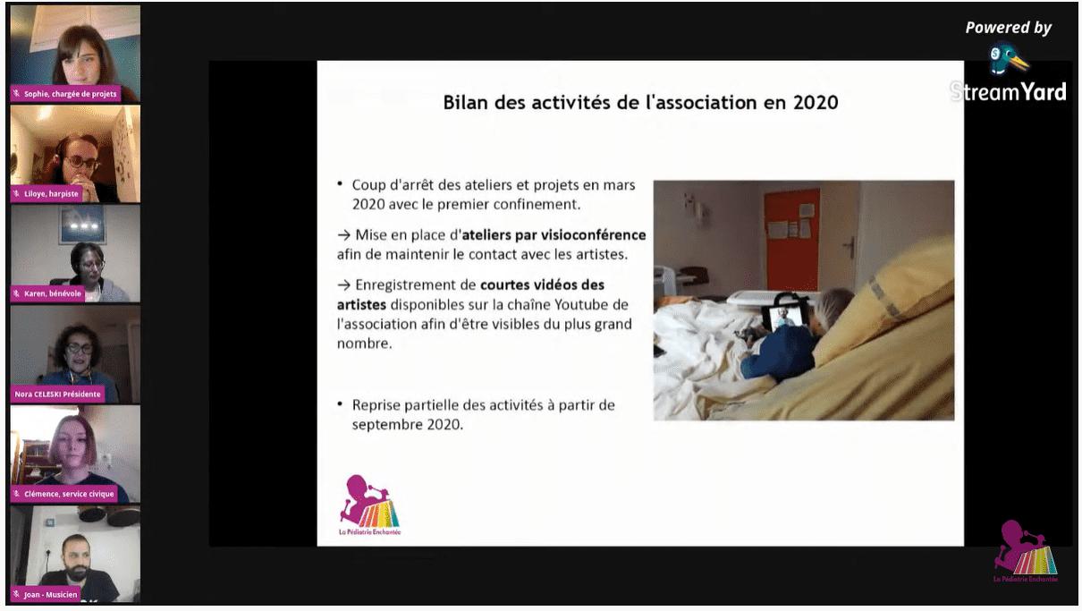 Bilan des activités de l'association - La Pédiatrie Enchantée